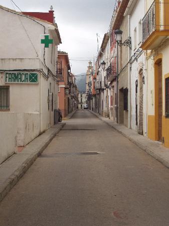 Benigembla, Spain: Street where Casa Les Olives is