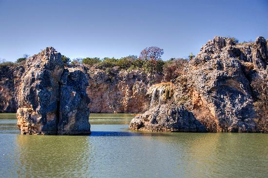 Burnet, TX: Ceremonial Rock and Waterfall
