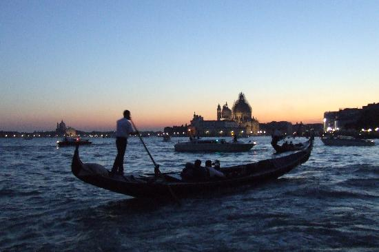 Lido: Gondolas on St.Mark's Basin, opposite Palazzo Ducale