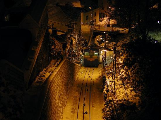 Bergen, Norway: The funicular up to Mount Fløyen