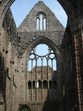 Tintern, UK: A view of one end of the abbey