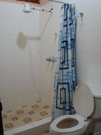 Hotel Villa Margarita: Vista de la ducha