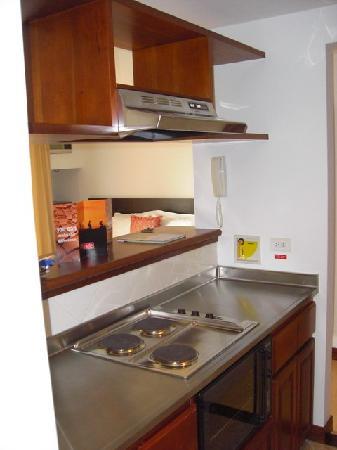 Leblon Suites Hotel: Cuisine vue 2