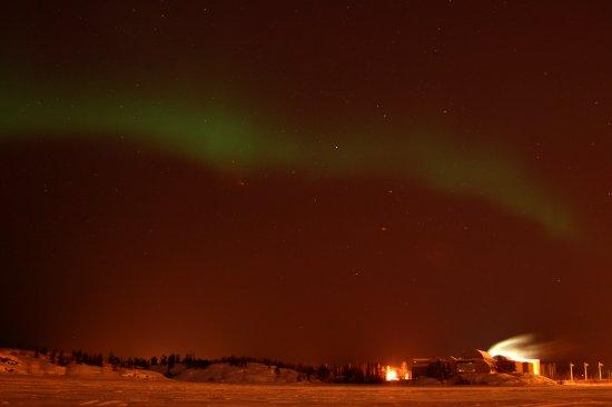 Yellowknife, Canada: Aurora borealis seen at Frame Lake