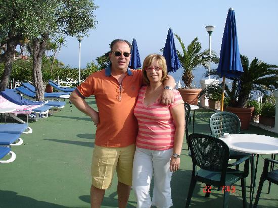 Casamicciola Terme, Italia: Terraza del Hotel Gran Paradiso