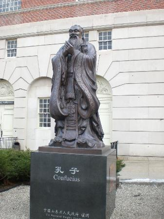 Bushnell Center for Performing Arts: Statue on the side of the center