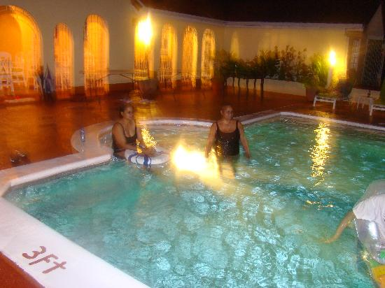 Summerhill Villa: Swimming in the evening