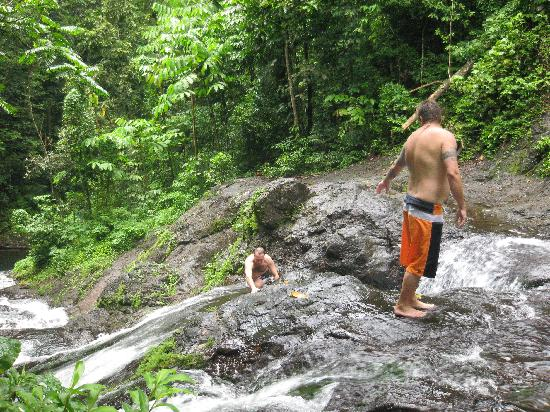 Apia, Samoa: another waterfalls down there
