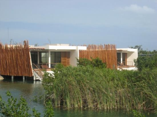 Rosewood Mayakoba: View of Suites across the lagoon