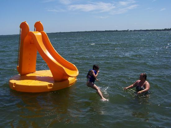 The Lodge on Otter Tail Lake: The water slide was the best