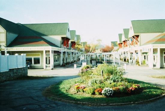 view of the outlets from the back door picture of north conway rh tripadvisor com