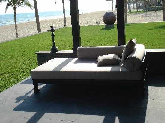 Four Seasons Resort The Nam Hai, Hoi An: Part of the outdoor living area at our villa
