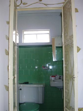 Hotel Melendez: Baño con inquilinos desagradables