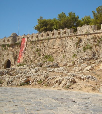 Rethymnon, Yunani: The mighty walls of fotress