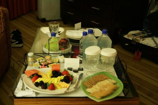 InterContinental Hotel Tampa: Room 828 fruitplate