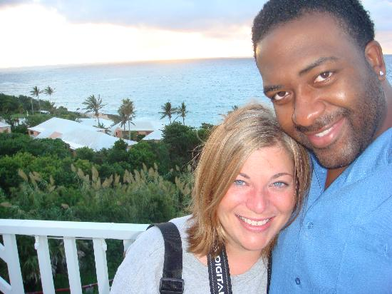 Elbow Beach, Bermuda: On the terrace the morning we were leaving..