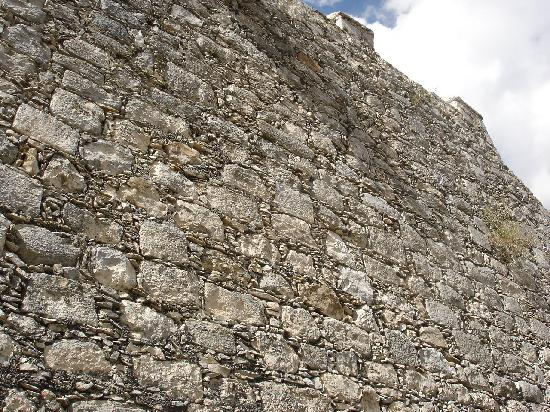 Dzibilchaltun Ruins: Look for the carved Mayan stones in the church walls