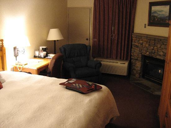 Hampton Inn Gatlinburg: Rooms are clean but small.