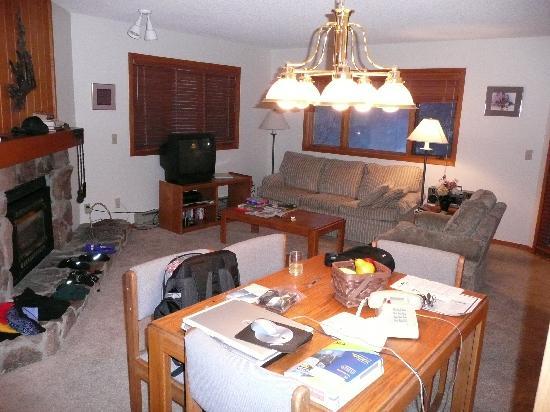 Woods Manor Condominiums : living area inside 1 BR Woods Manor condo