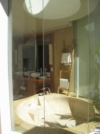 Rosewood Mayakoba: Bathroom as seen from the outside shower