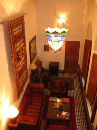 Dar Roumana: View from the reading room's upper level