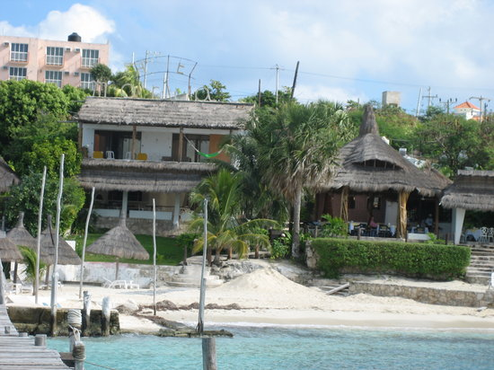 Maria's Kan-kin: view of hotel & restaurant from beach