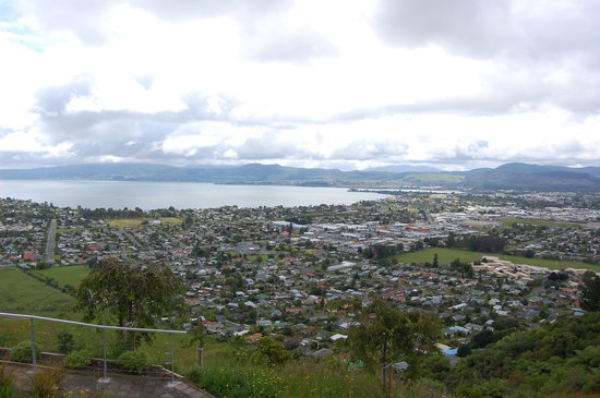 Rotorua, New Zealand: view captured from the top
