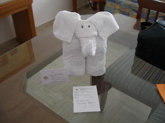 Sea Garden Nuevo Vallarta: One of Blanca's towel animals