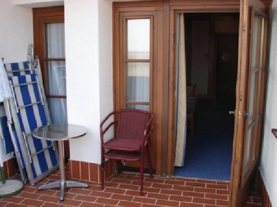 Seehotel Rust: Outdoor balcony