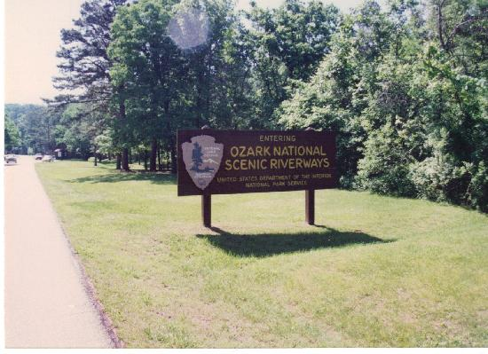 Van Buren, MO: Park entrance sign.
