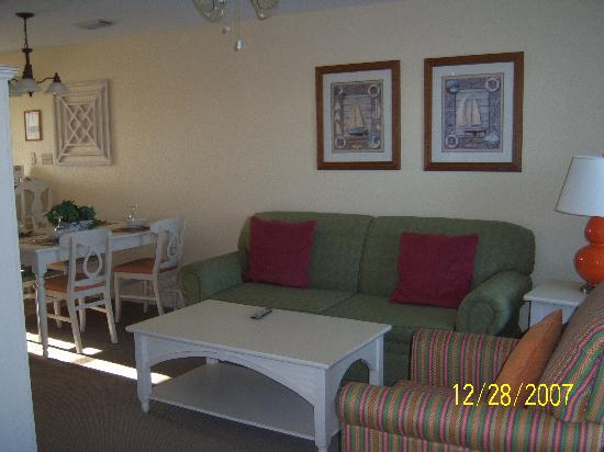 Holiday Inn Club Vacations Galveston Seaside Resort: living room