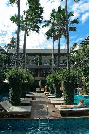 Pool scene from lobby