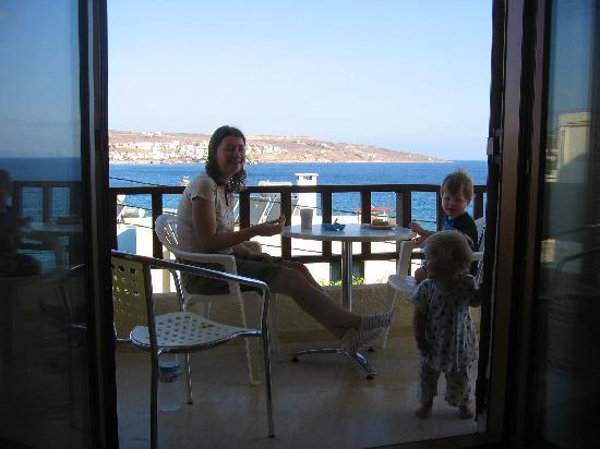 Simon Studios & Apartments: The balcony