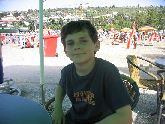 Portoroz, Eslovenia: Son on the beach