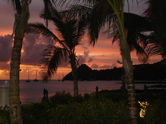 The Landings St. Lucia: Sunset view from the unit we were in