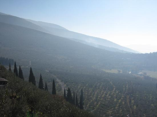 View of the valley from Trevi