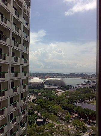 Fairmont Singapore: View from one of two balconies