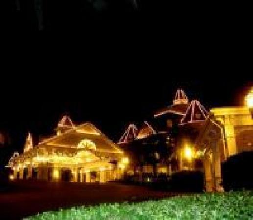 Hong Kong Disneyland Hotel: Disneyland Hotel at night!