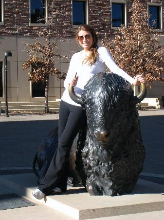 University of Colorado at Boulder : Danielle at Folsom Field