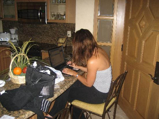 Villa La Estancia: Me working on my fiirst day to Mexico