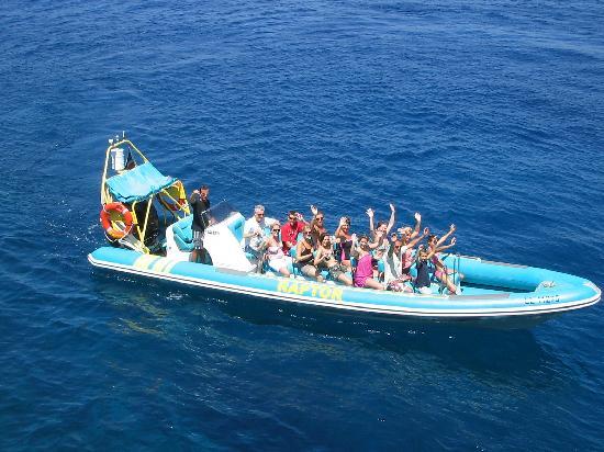 Raptor : Boat ride Ayia Napa Cyprus