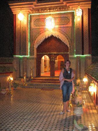 Palais Asmaa: the enterance