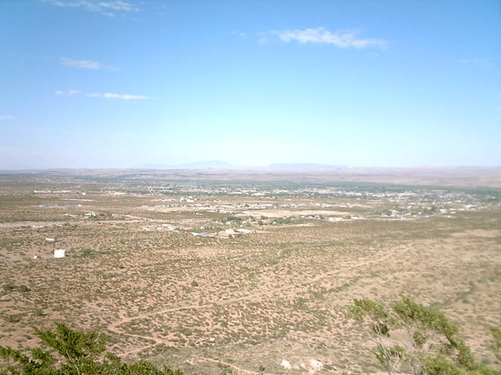 Socorro, as viewed from a hill to the SW of town.