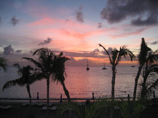 The Landings St. Lucia: The view from our balcony at Sunset
