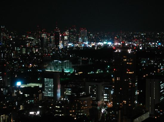 The Ritz-Carlton Tokyo: View from window at night
