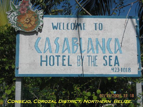 Casa Blanca by the Sea Hotel : Hotel Sign.