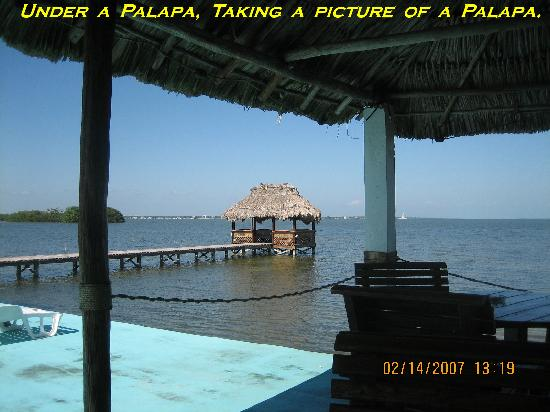 Casa Blanca by the Sea Hotel : Palapa. Casablanca By The Sea Hotel, Belize.
