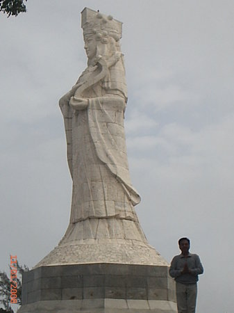 Macau, China: statue of ah ma