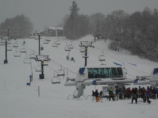 Mountain Lodge at Okemo: This picture was taken from my balcony at B205.