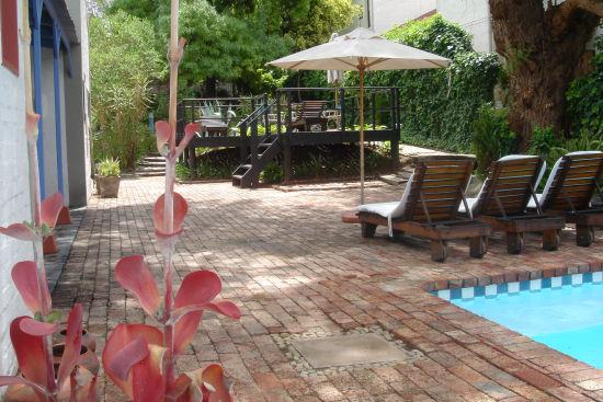 Karoo Retreat: Pool area at Shades of Africa, Oudtshoorn, South africa